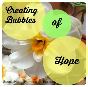 Creating Bubbles of Hope- Hospice is not giving up. How our family is choosing to create hope.