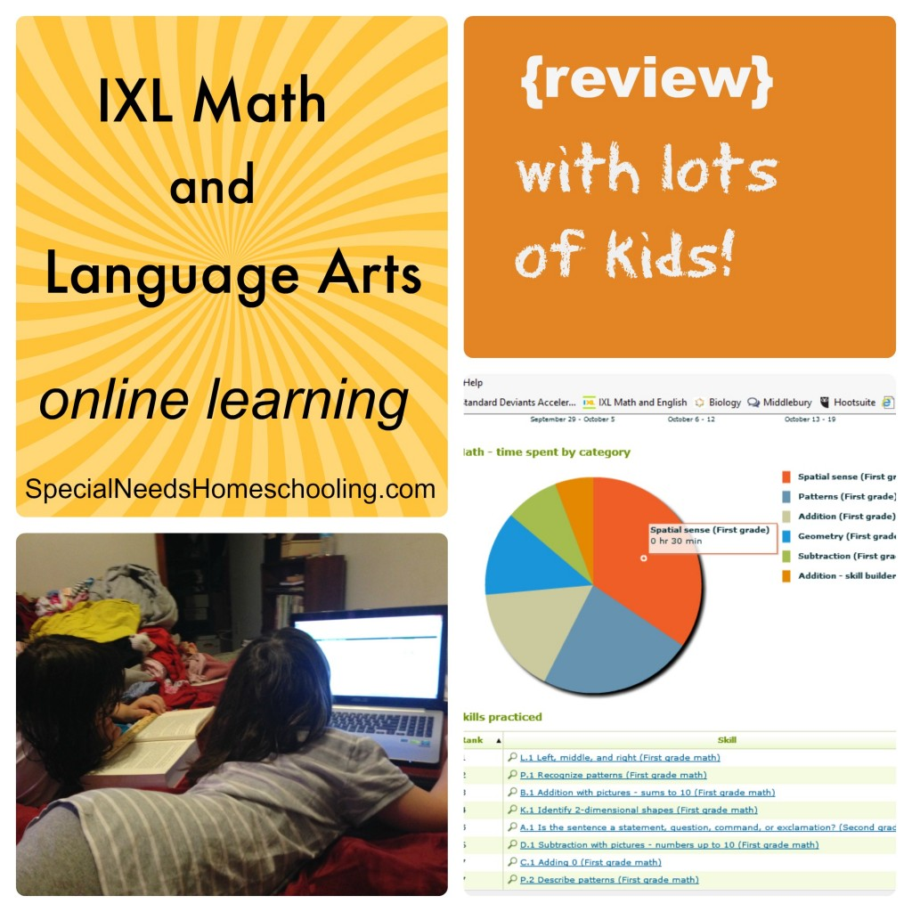 IXL Math and Language Arts online learning {review