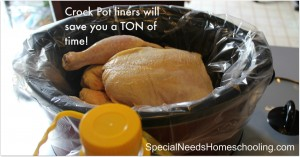 Crock pot liners save time and energy.